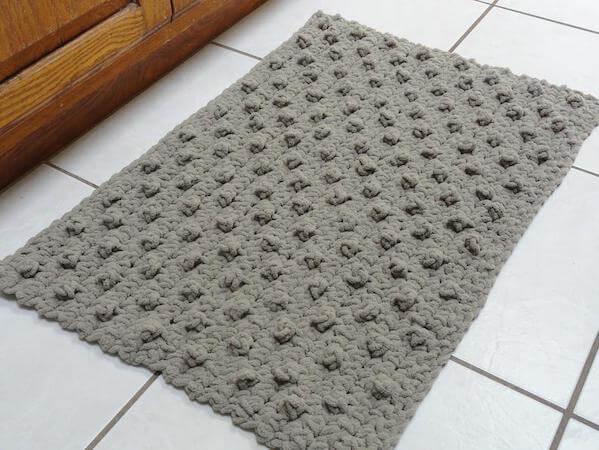 Crochet Bathroom Rug Pattern by Kathy's Crochet Closet