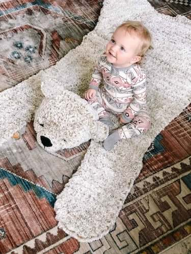 Crochet Bear Blanket Rug Pattern by Make And Do Crew