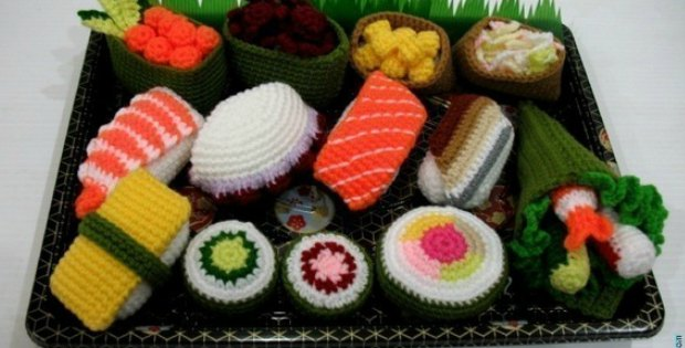 Amigurumi Sushi Play Foods Set Crochet Fun