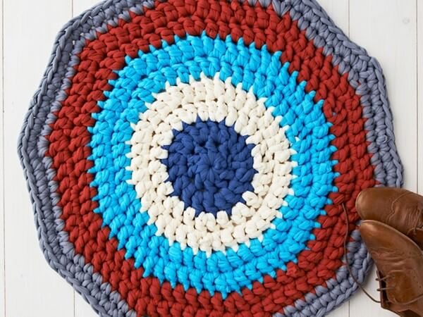 Crochet Rug Pattern by Gathered