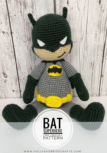 Free Batman Crochet Pattern by Holly's Hobbies Crafts