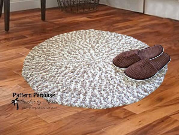 Free Crochet Cushy Rug Pattern by Pattern Paradise