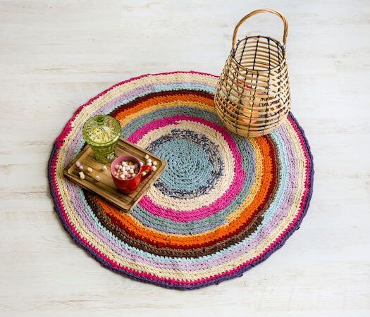 Free Crochet Rag Rug Pattern by The Spruce Crafts