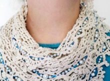 Crochet Infinity Scarf Beaded Pattern