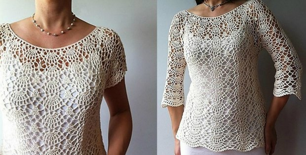 Crochet Summer Top Pattern Lacy Shells Stitch Flattering Fit
