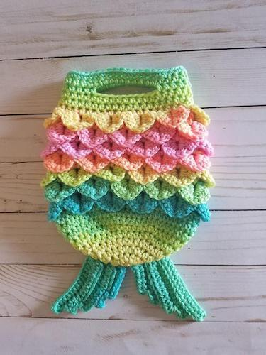 Mermaid Tail Handbag Crochet Pattern by The Yarn Conspiracy