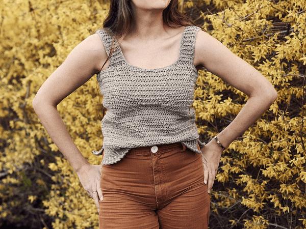 Milla Crochet Tank Top Pattern by Two Of Wands
