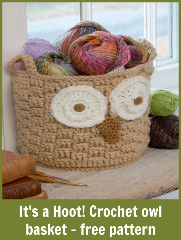 crochet owl basket crochet pattern. Very easy to make.