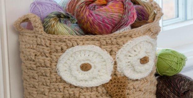 Free Crochet Pattern Owl Basket : Owl Crochet Basket What A Hoot To Make - Crochet News