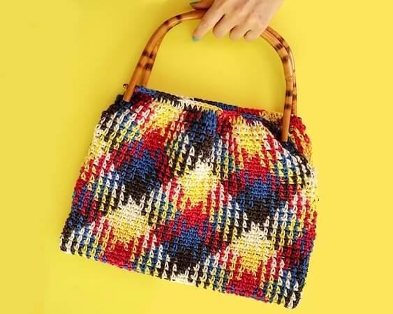 Planned Pooling Crochet Handbag Pattern by My Poppet Makes