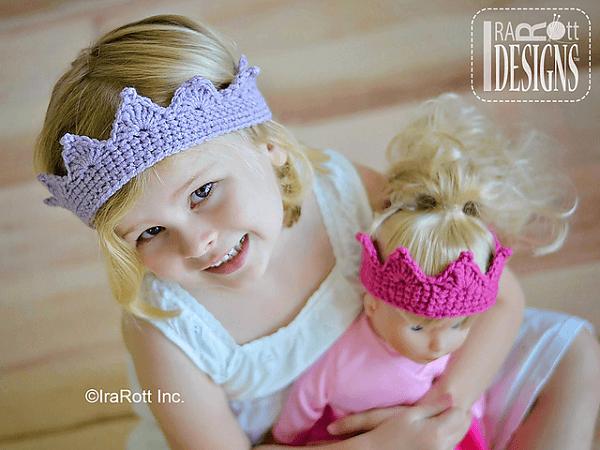 Princess Crown Crochet Pattern by Ira Rott