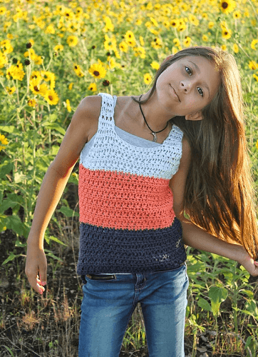 Summer Breeze Tank Top Crochet Pattern by Cactus And Lace Designs