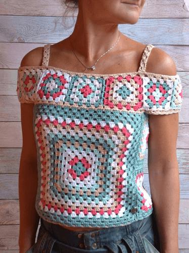 Summer Crochet Lace Top Pattern by Filamento Kat Beach