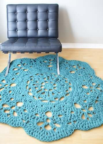 Super Chunky Rug Crochet Pattern by Midknits