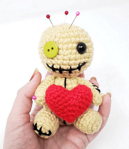 Pincushion Voodoo Doll Amigurumi Pattern by Rachel Baumann