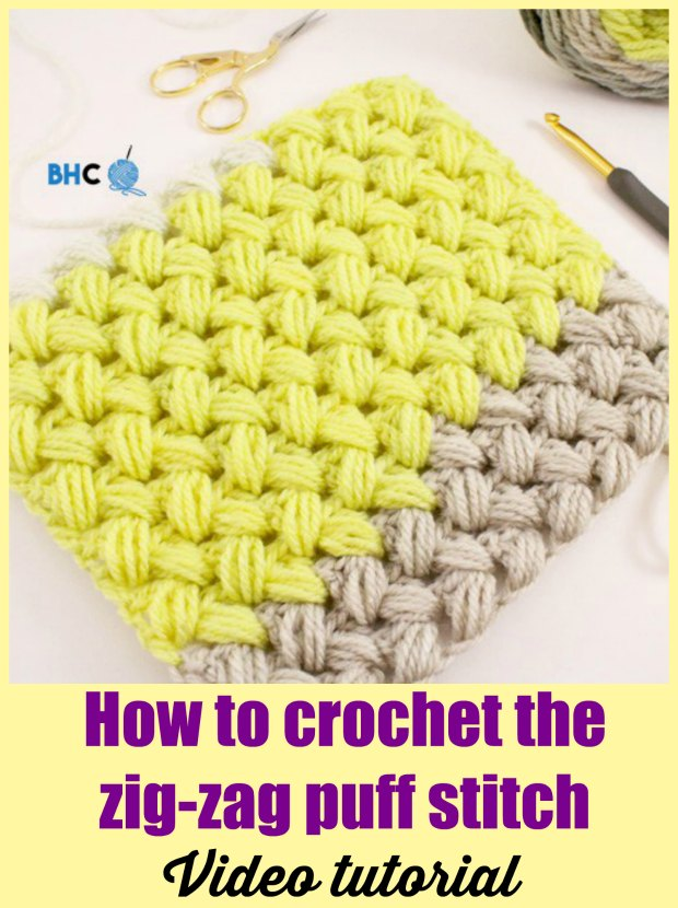 Zig Zag Puff Stitch Crochet Pattern