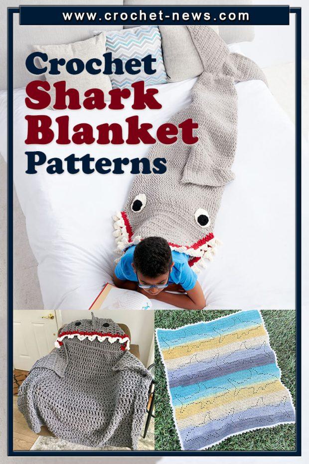 CROCHET SHARK BLANKET PATTERNS