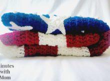 American Flag Crochet Blanket