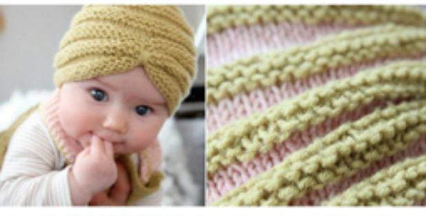 Crochet Baby Turban Beanie
