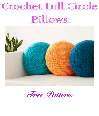 Crochet Full Circle Pillow Free Pattern