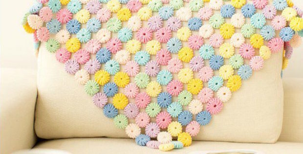 Crochet blanket patterns - yoyo puff crochet pattern