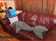 Free Crochet Shark Blanket Pattern