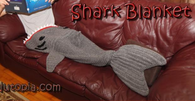 Crochet Shark Blanket Free Video Pattern