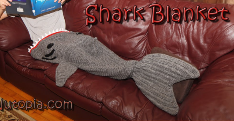Crochet Shark Blanket Free Video Pattern