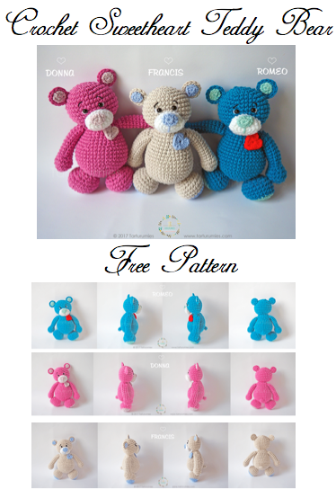 Amigurumi Wedding Teddy Bear Free Crochet Pattern - #Amigurumi ... | 544x374