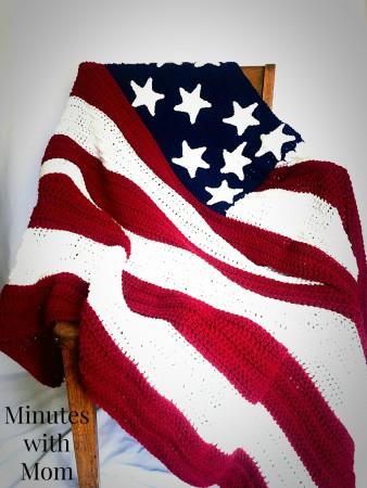 Free Crochet American Flag Blanket Pattern