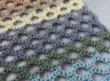 Honeycomb Trellis Crochet Stitch Tutorial by Stitchinprogress