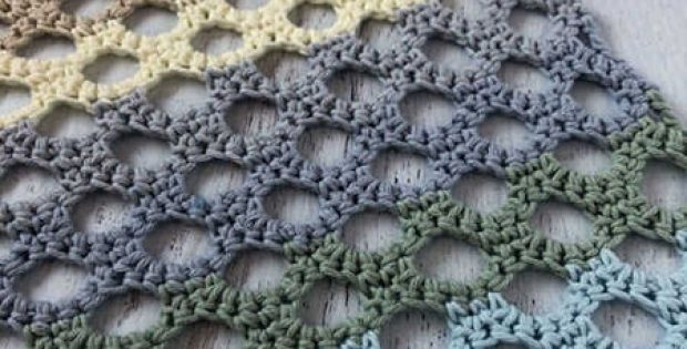 Honeycomb Trellis Crochet Stitch Tutorial by Stitchinprogress
