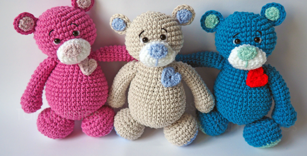 Crochet Teddy Bear Amigurumi Pattern