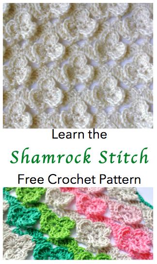 free pattern crochet stitch of the week shamroch crochet stitch
