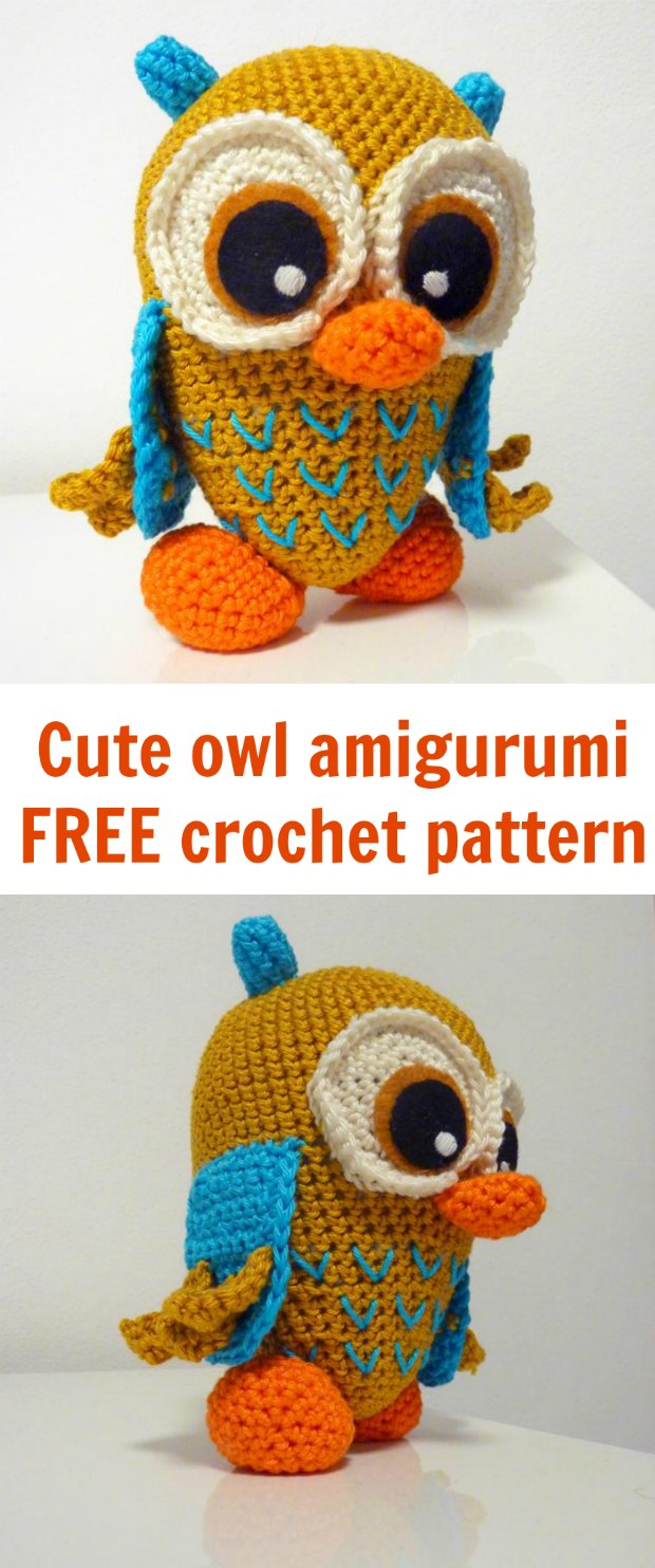Crochet Amigurumi Owl [FREE Crochet Pattern] - The Crochet Space | 1483x620