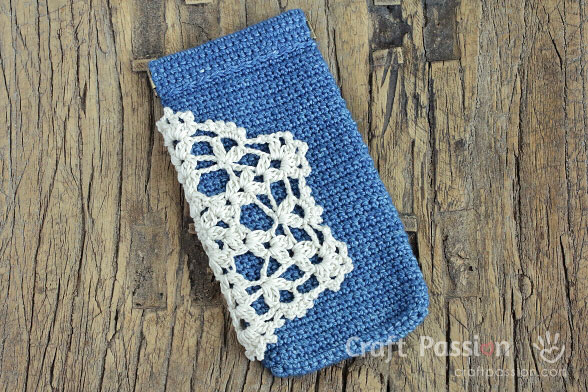Crochet Flex Frame Glasses Pouch