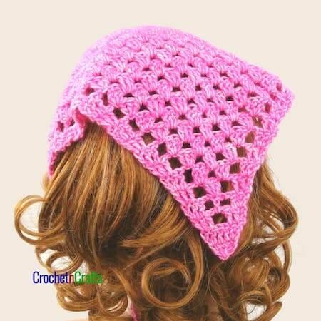 Granny Stitch Crochet Kerchief Pattern by Crochet N Crafts