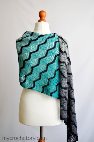 Havra Crochet Wrap Free Pattern by My Crochetory