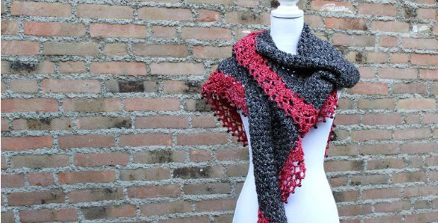 Touch Of Velvet Wrap Crochet Pattern