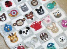 crochet baby blanket - zoo baby blanket