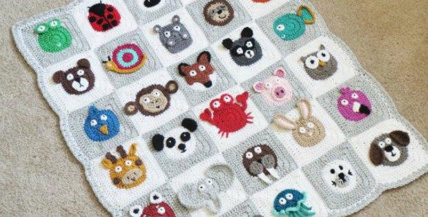 crochet baby blanket - zoo baby blanket pattern