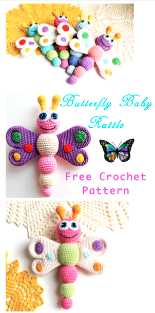 Baby Rattle (Free Amigurumi Patterns) | Crochet toys free, Baby ... | 610x302