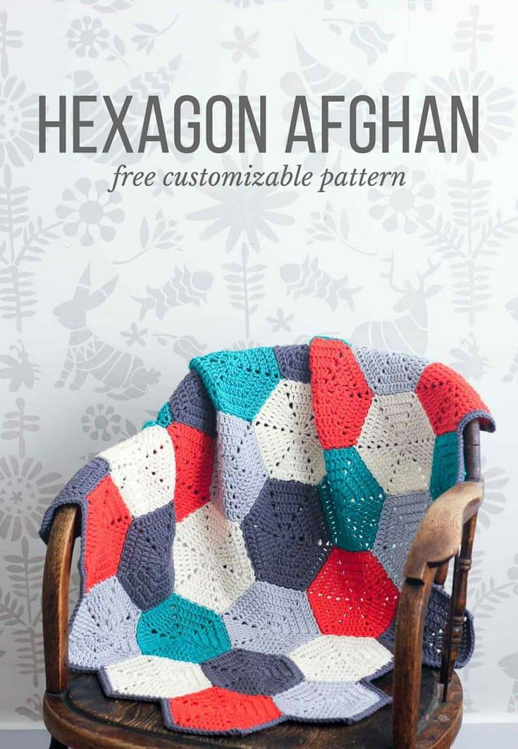 Crochet Afghan Blanket Hexagon Pattern - Free Crochet Tutorial