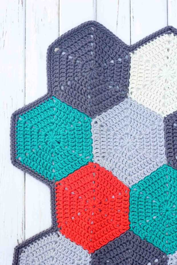 Crochet Afghan Blanket Hexagon Pattern