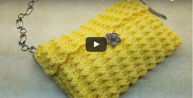 lemon clutch bag