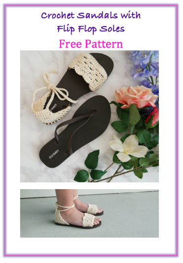 crochet sandals with flip flop sole free crochet pattern free video tutorial