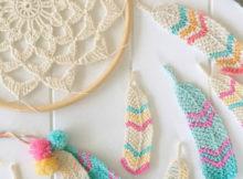 Tunisian Crochet Feathers Free Crochet Pattern
