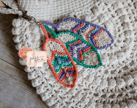 Boho Crochet Feather Pattern by Stones Glass Designs