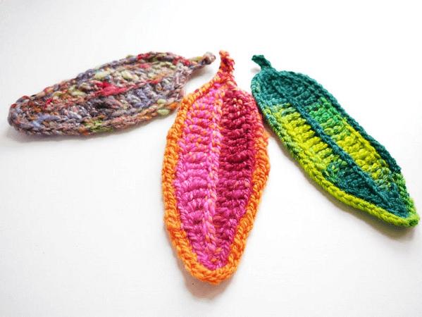 Crochet Feather Pattern by Sylvie Damey Crochet