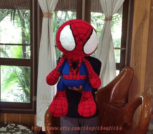 Crochet Spiderman Pattern by Chonticha Design